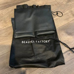 NEW Beauties Factory Faux Leather Brush Roll